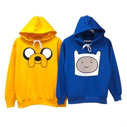 Adventure Time Sweatshirtler Jake Finn Kombin Sweatshirt Best Friend Sevgili Sweatshirt