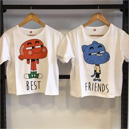 Gumball ve Darwin Best Friend Tişört modelleri